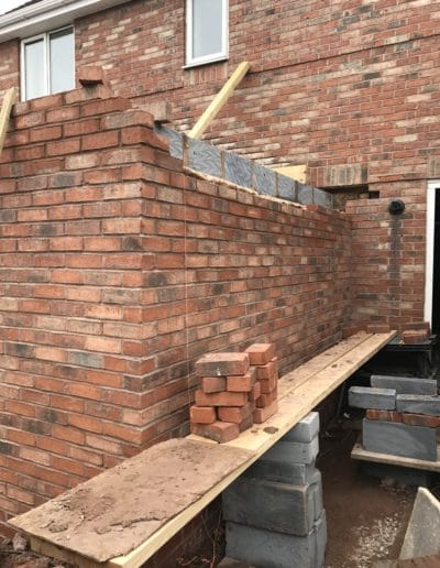 brick work of house extension