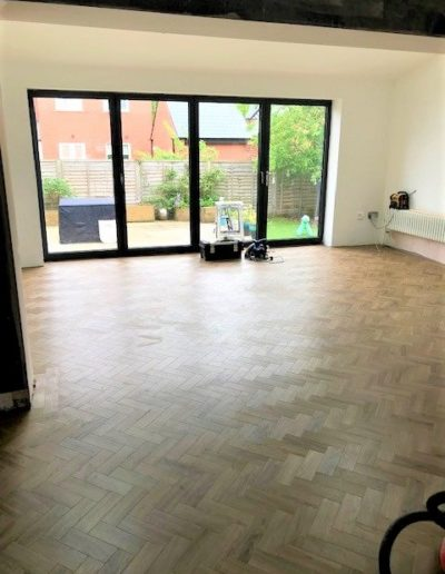 completed extension Karndean flooring